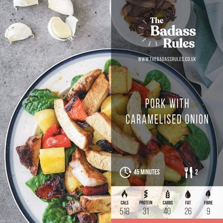 Pork with caramelised onion
